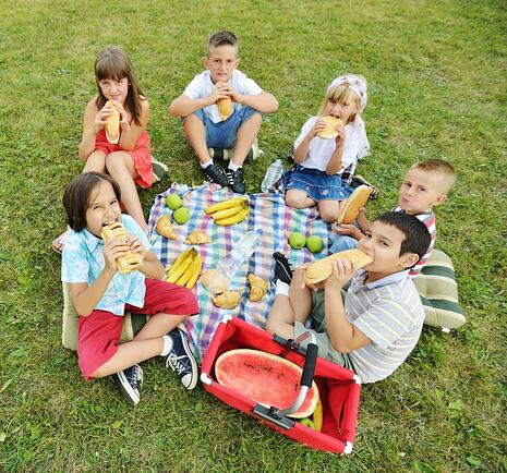 Children having picnic on meadow in circle.jpeg