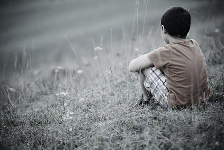 Sad lonely kid