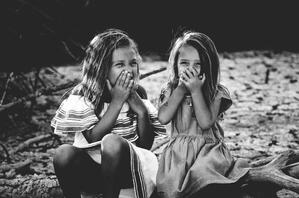little girls laughing